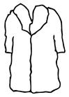 Dibujo para colorear abrigo - abrigo de piel