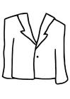 Dibujo para colorear abrigo