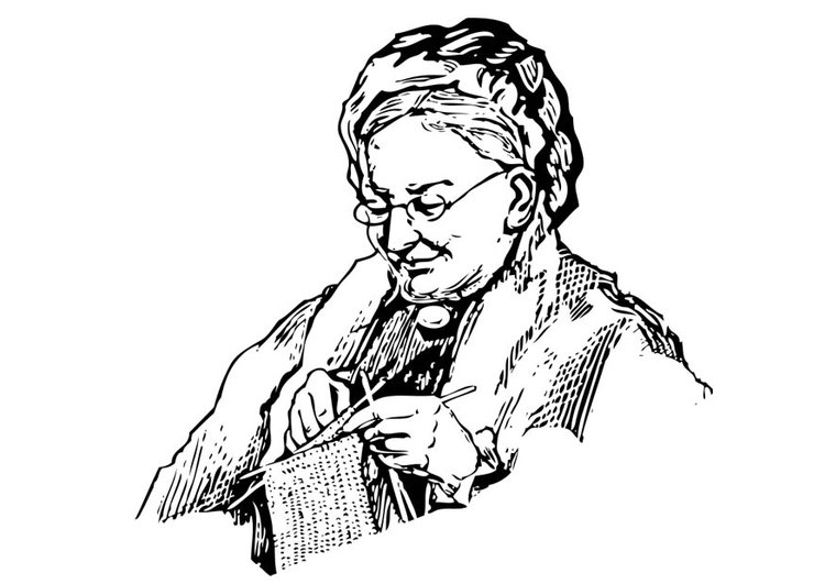 Opa Kleurplaat Dibujo Para Colorear Abuela Img 17342