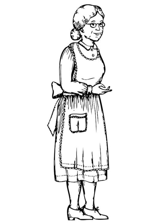 Dibujo para colorear abuela img 20184 for La cocina dela abuela paca