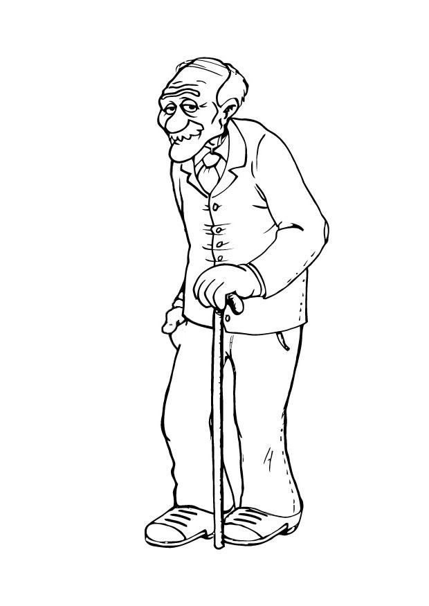 dibujo para colorear abuelo