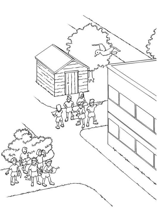 Dibujo Para Colorear Actividades Del Colegio Dibujos Para
