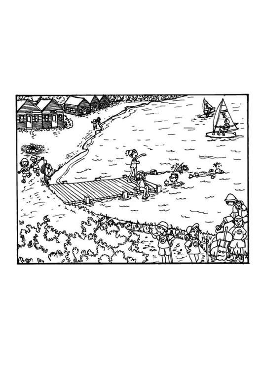 Dibujo Para Colorear Actividades En Vacaciones Img 9676 Images