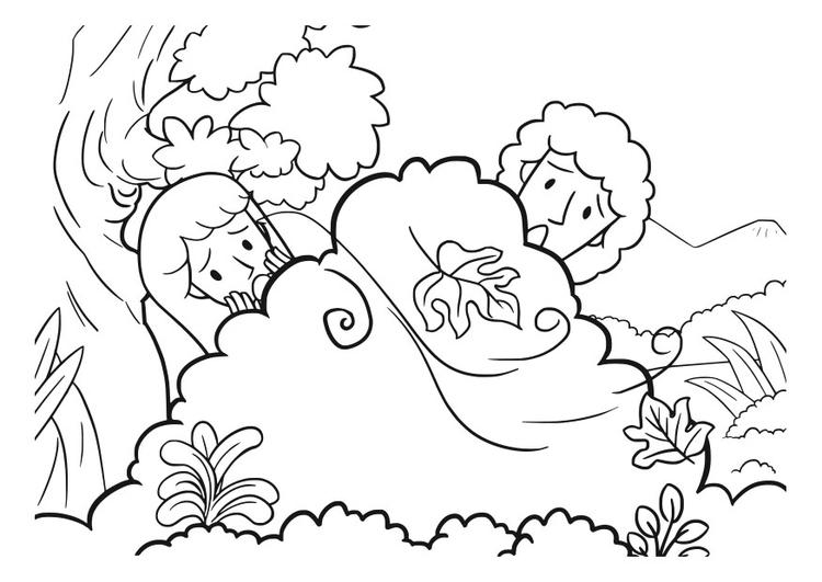 Dibujo para colorear ad n y eva img 29831 for Adan y eva en el jardin del eden para colorear