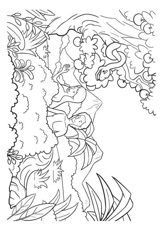 Dibujo para colorear ad n y eva img 29826 for Adan y eva en el jardin del eden para colorear