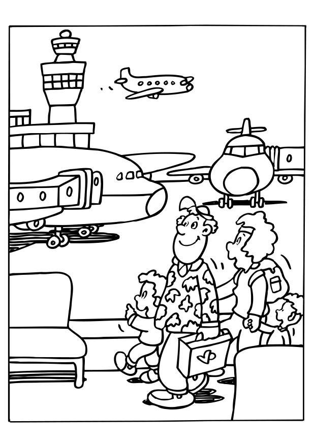 dibujo para colorear aeropuerto dibujos para imprimir gratis