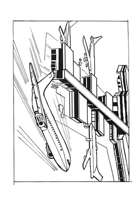 Dibujo Para Colorear Aeropuerto Img 9542