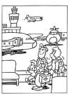 Dibujo para colorear Aeropuerto