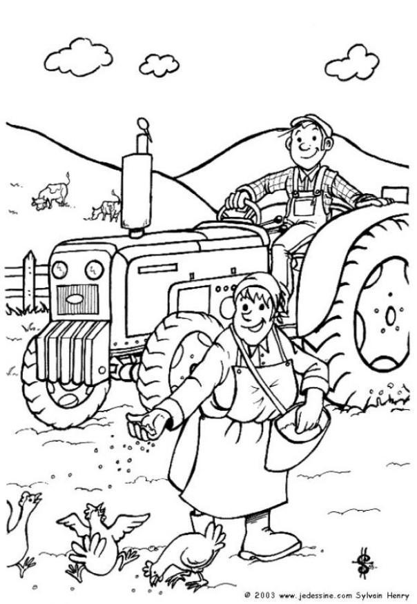 Dibujo para colorear Agricultor - Img 6441