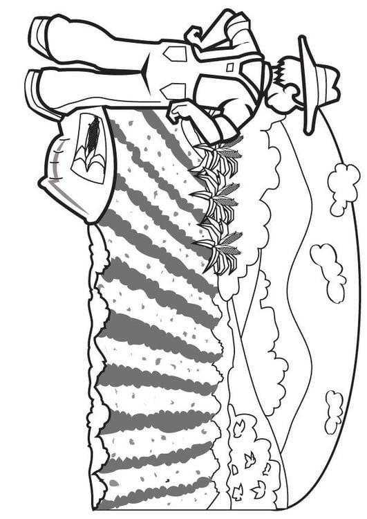 Dibujo para colorear Agricultor - Img 7076