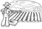 Dibujo para colorear Agricultor