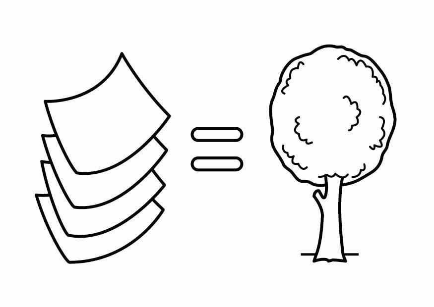 dibujo para colorear ahorrar energ a el papel proviene de