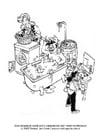 Dibujos para colorear Ahorro de agua