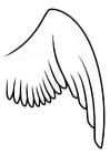 Dibujo para colorear ala derecha