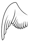 Dibujo para colorear ala izquierda