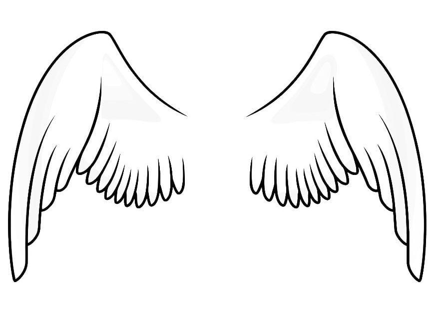 Dibujo para colorear alas  Img 20666