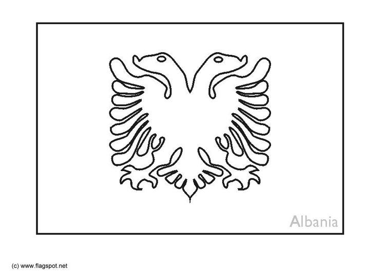 Dibujo para colorear Albania - Img 6364