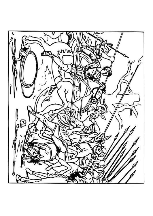 dibujo para colorear alejandro vence a los persas img 10448