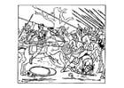 Dibujo para colorear Alejandro vence a los persas