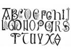 Dibujo para colorear Alfabeto anglosajón de los siglos XVIII y IX