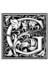 Dibujo para colorear alfabeto decorativo - G