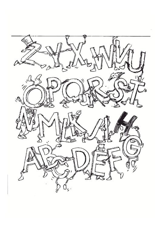 Dibujo para colorear Alfabeto - Img 11447