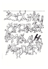 Dibujo para colorear Alfabeto