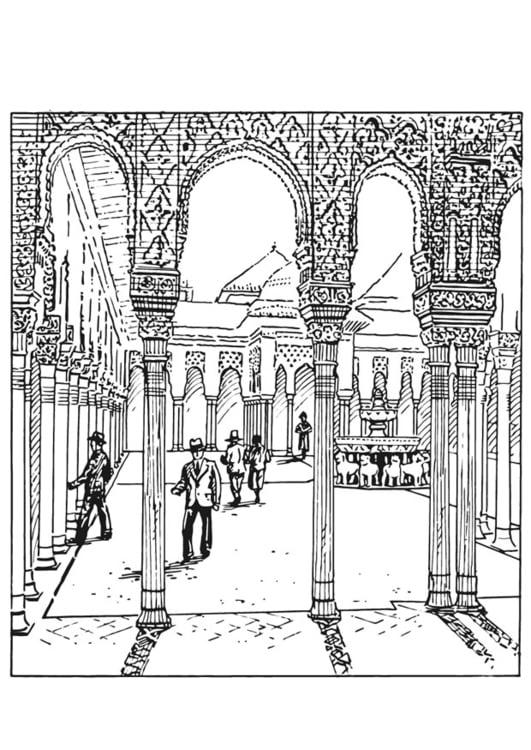 Kleurplaat Nieuwe Woning Dibujo Para Colorear Alhambra Espa 241 A Img 13211