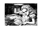 Dibujo para colorear Alicia en el país de las maravillas - en la casa del conejo