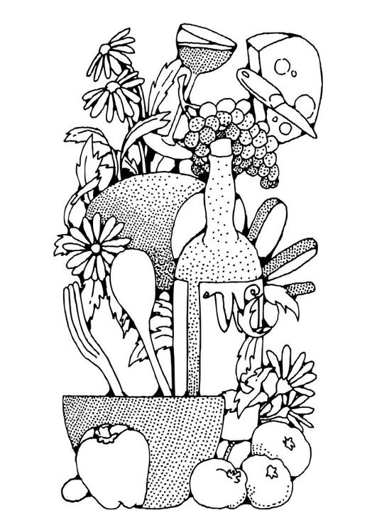 Dibujo Para Colorear Alimentación Img 17339