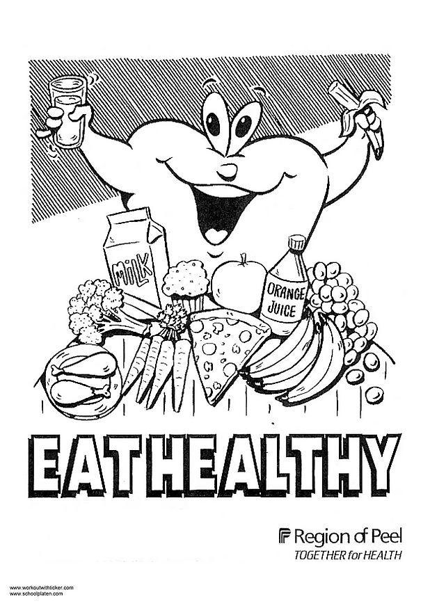 kids coloring pages nutrition foods - photo#11