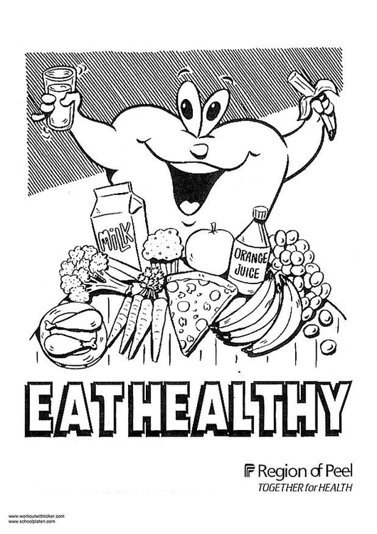 Dibujo Para Colorear Alimentación Sana Img 2975