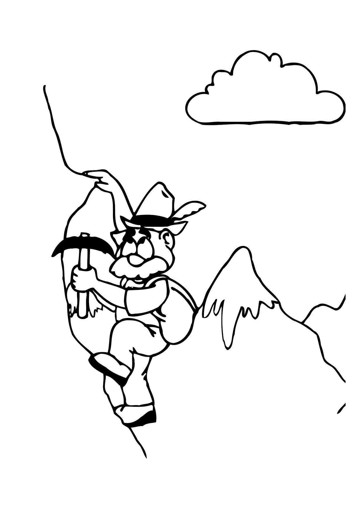Dibujo para colorear Alpinista - Img 12166