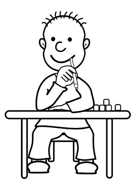 Dibujo para colorear alumno - Img 29156