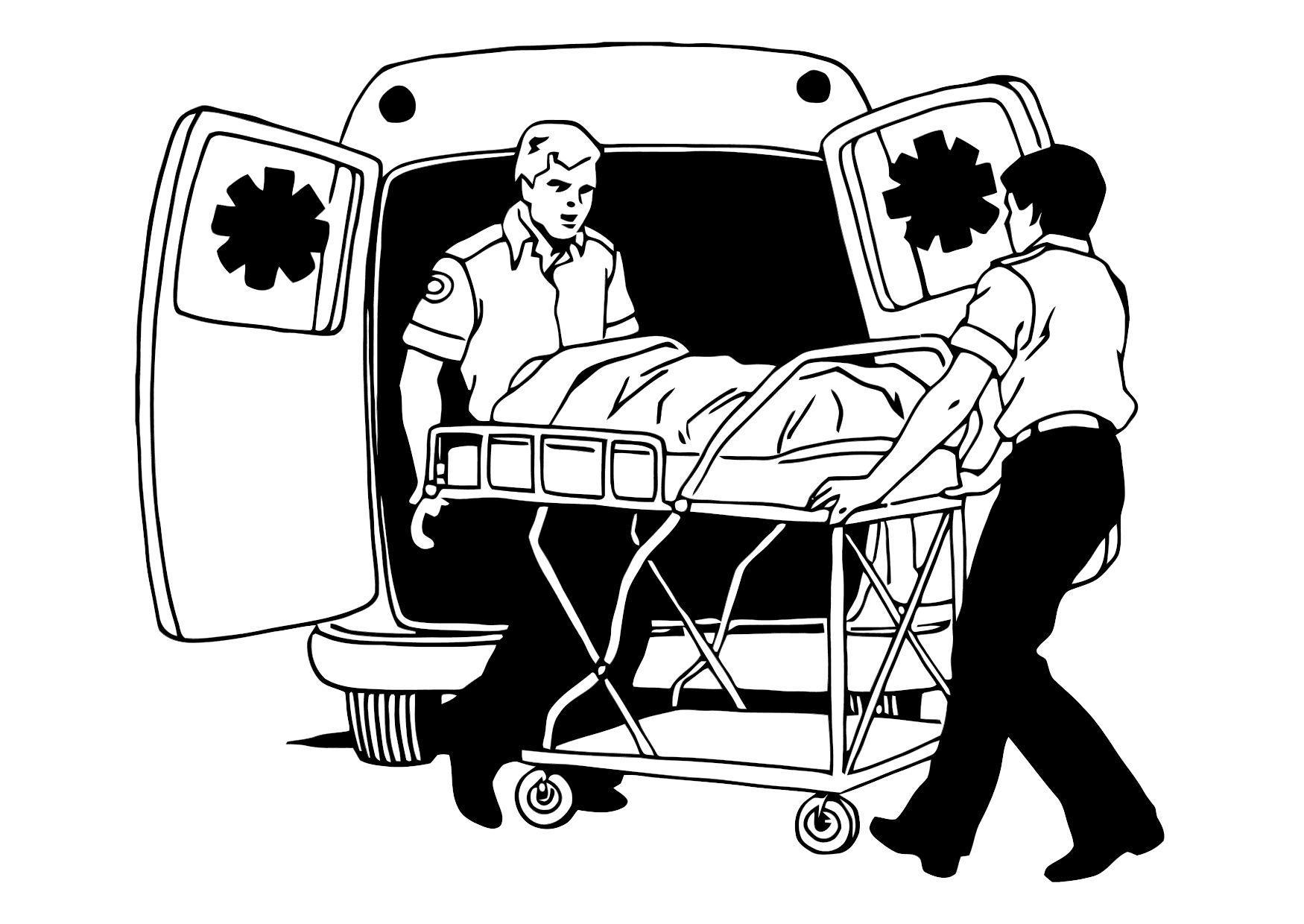 Dibujo para colorear Ambulancia - Img 11373