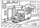 Dibujo para colorear Ambulancia