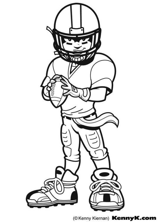Dibujo para colorear American Football - Img 9028