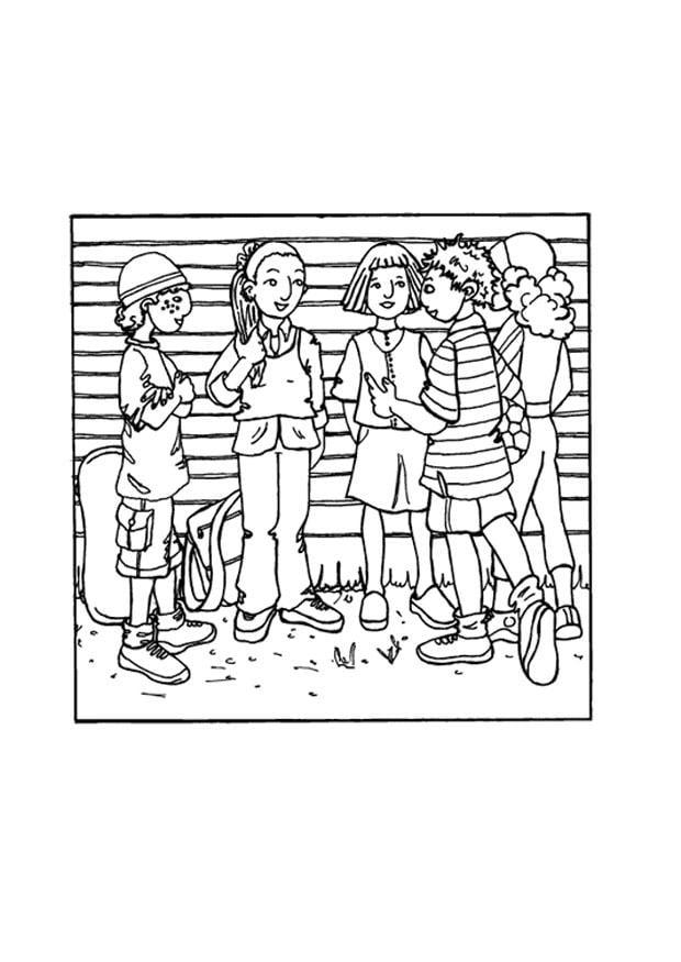 Dibujo Para Colorear Amigos Img 9702