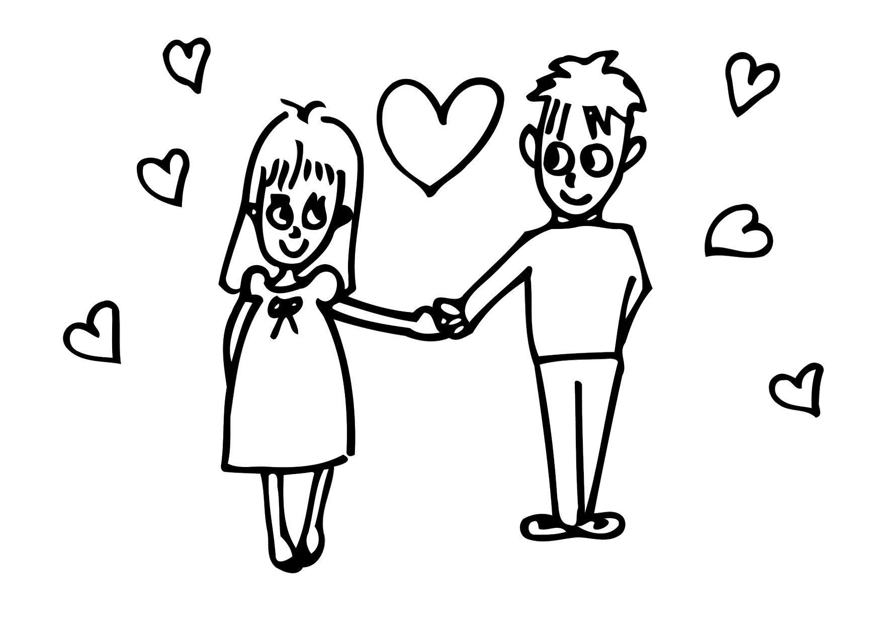 Dibujos De Amor Para Colorear: Dibujo Para Colorear Amor