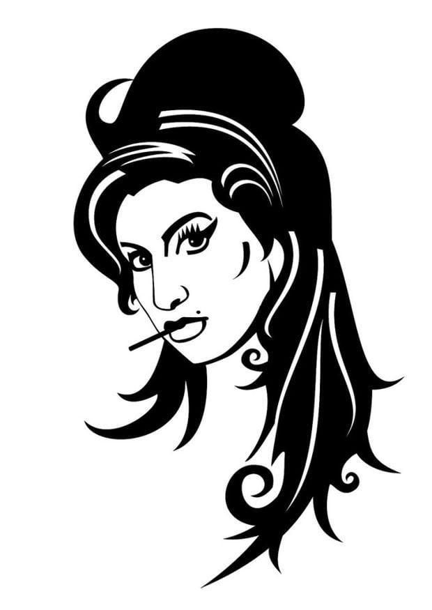 Dibujo Para Colorear Amy Winehouse Dibujos Para Imprimir