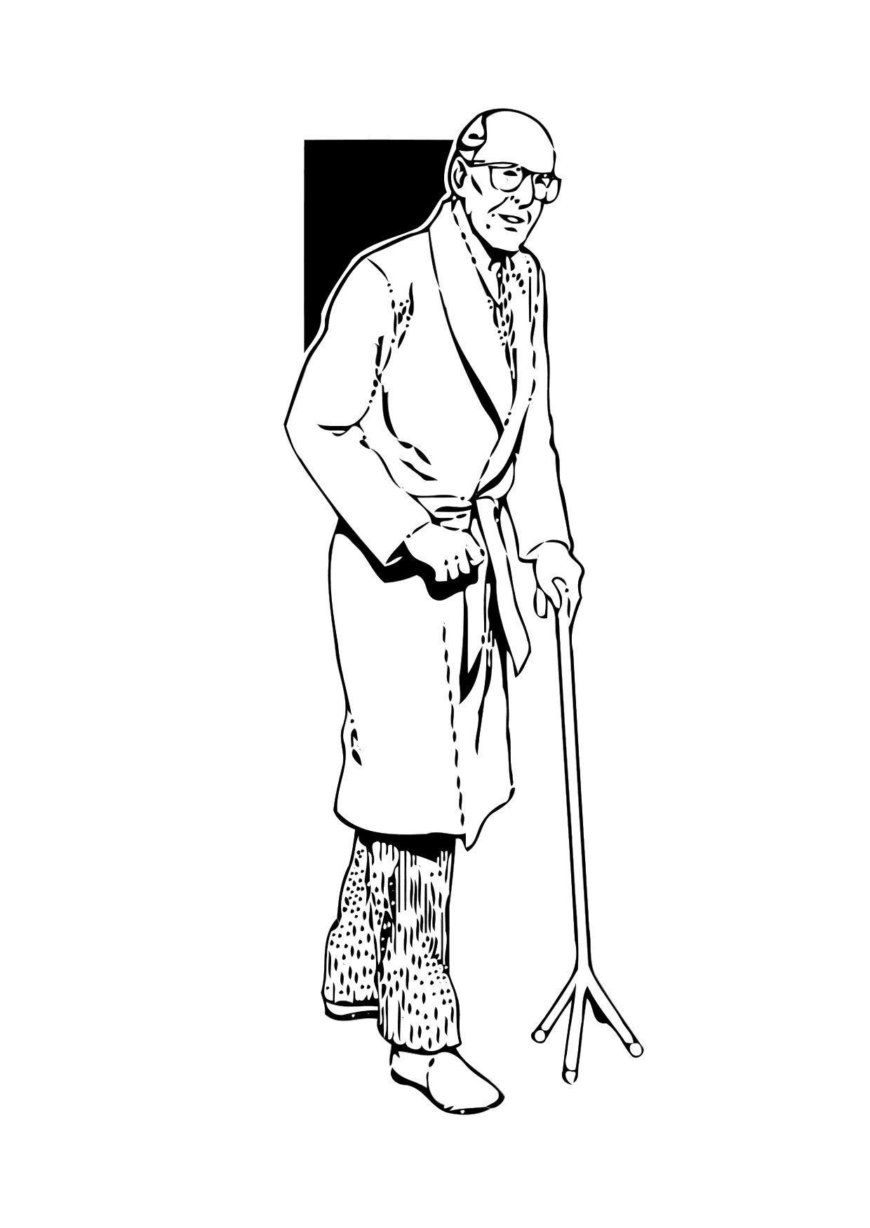 Dibujo para colorear Anciano - Img 11347