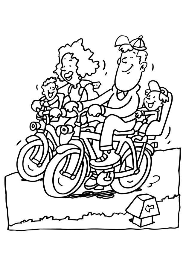 Dibujo para colorear Andar en bicicleta - Img 6497 Andar En Bicicleta Para Colorear
