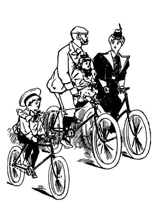 Dibujo para colorear andar en bicicleta - Img 27643 Andar En Bicicleta Para Colorear