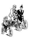 Dibujo para colorear andar en bicicleta