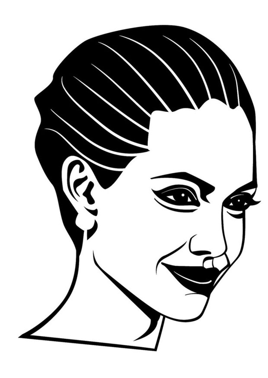 Dibujo Para Colorear Angelina Jolie Img 24680 Images