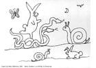 Dibujo para colorear Animales de fantasía
