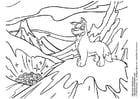 Dibujo para colorear Animales de nieve