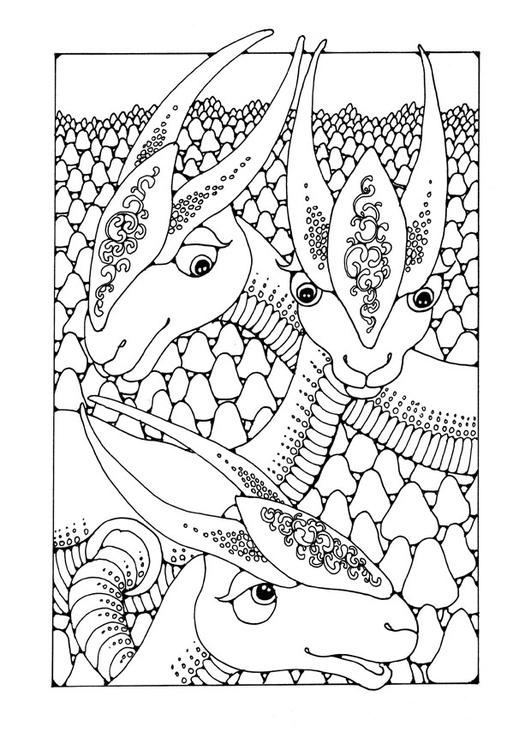 Dibujo Para Colorear Animales Fantasticos Dibujos Para Imprimir