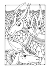 Dibujo para colorear animales fantásticos