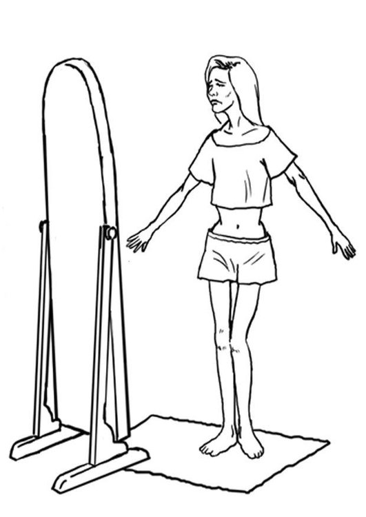 Dibujo Para Colorear Anorexia Anorexia Nerviosa Img 7876